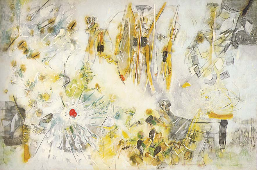 The Apples become morning by Roberto Matta